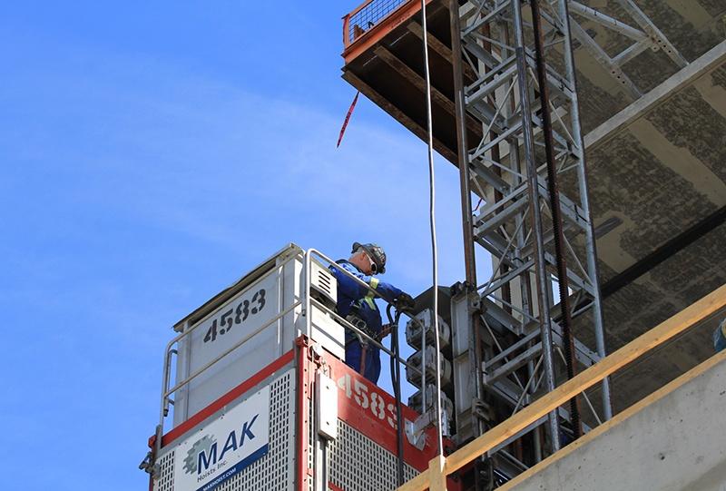 construction elevator hoist